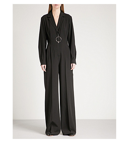 SPORTMAX Crine wool-blend jumpsuit (Black