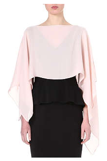 SPORTMAX Silk poncho cover-up