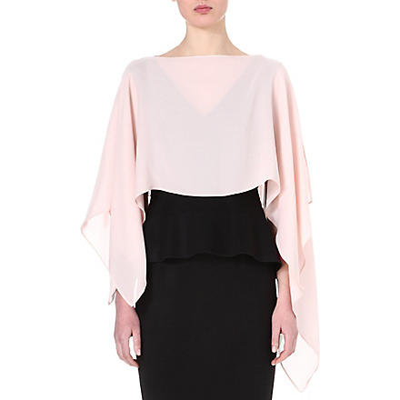 SPORTMAX Silk poncho cover-up (Pink