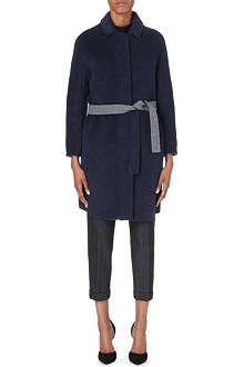 S MAX MARA Textured wool-blend coat