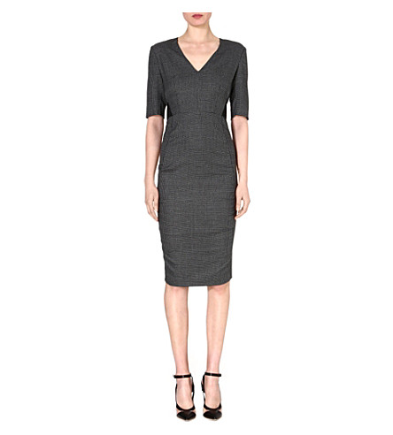SPORTMAX Dancing pencil dress (Black/grey