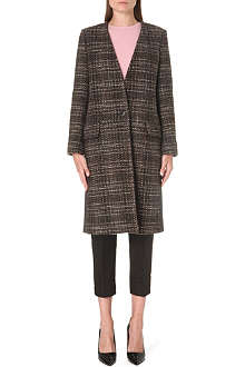MAX MARA Contrast-back tweed coat
