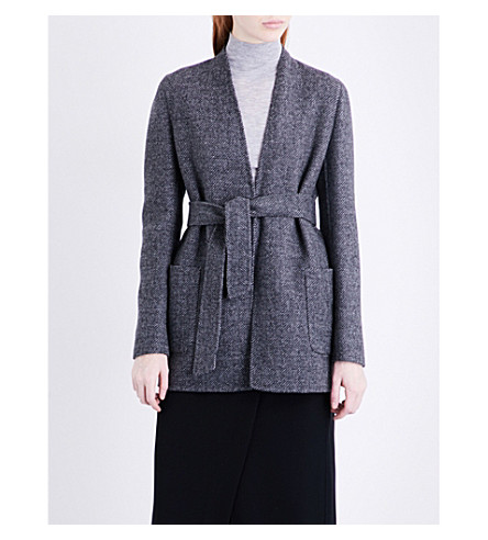 MAX MARA Denver wool and cashmere-blend jacket (Dark+grey