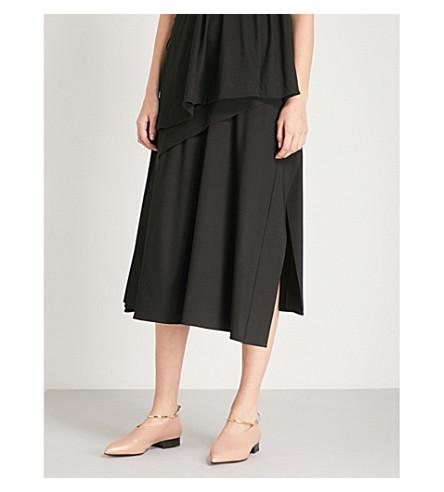 SPORTMAX Desio crepe midi skirt (Navy