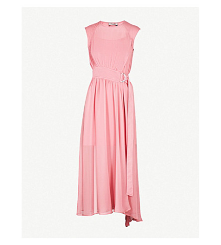 SPORTMAX Dionne belted silk-chiffon dress (Antique+rose
