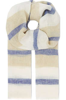 MAX MARA Striped linen scarf