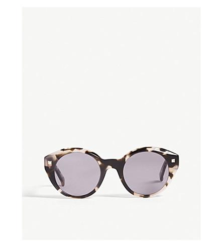 MAX MARA Dots round-frame sunglasses (Tawny+sand