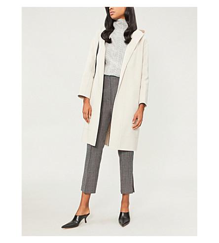 S MAX MARA Dparka hooded wool wrap coat (Ice