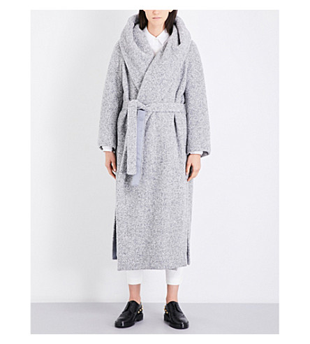 MAX MARA Dramma alpaca and wool-blend wrap coat (Medium+grey