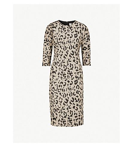 MAX MARA Dramma leopard-pattern wool dress (Turtledove