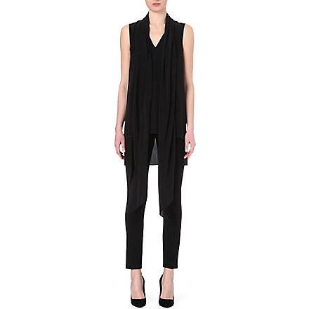 SPORTMAX Silk scarf neck tunic (Black