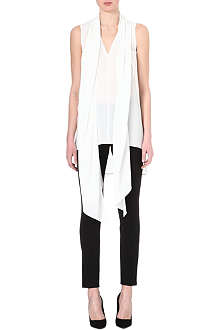 SPORTMAX Silk scarf neck tunic