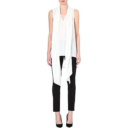 SPORTMAX Silk scarf neck tunic (White