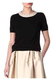 MAXMARA STUDIO Sequin collar top