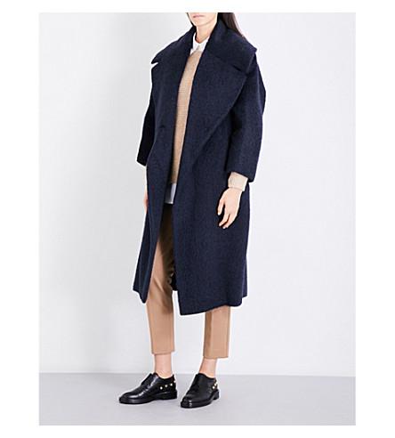 MAX MARA Edo oversized alpaca and wool coat (Navy