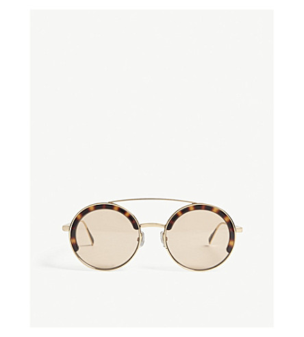 MAX MARA Eileen round-frame sunglasses (Bronze+brown