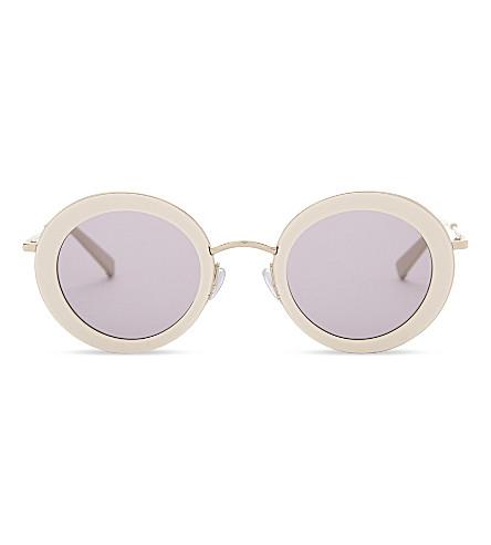 MAX MARA MM4625 Eileen round-frame sunglasses (Beige