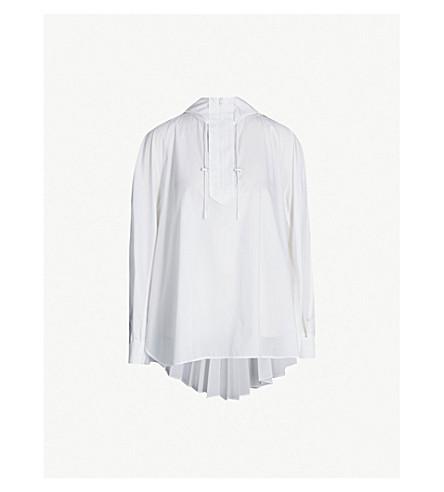 SPORTMAX Elfo pleated cotton-blend jacket (White