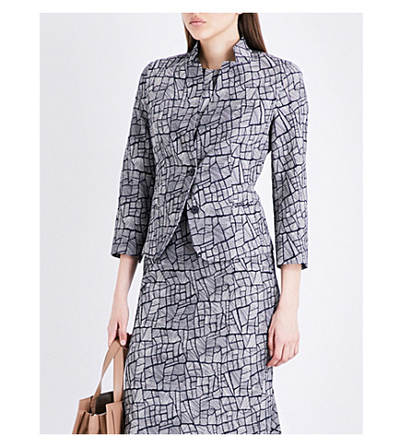 MAX MARA Ellisse cotton-blend jacket (Navy