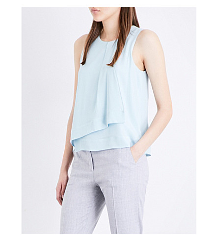 MAX MARA Elmo silk top (Blue