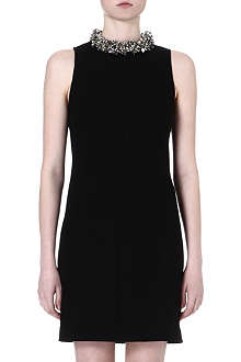 MAX MARA PIANOFORTE Eloise embellished-neckline dress