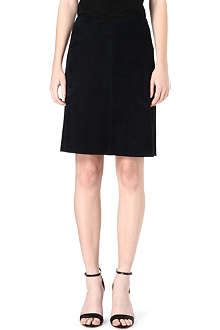 S MAX MARA CUBE Knee-length suede skirt