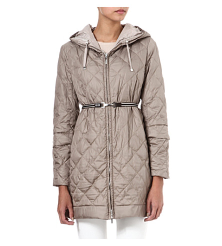 MAX MARA CUBE Quilted shell coat (Hazleut