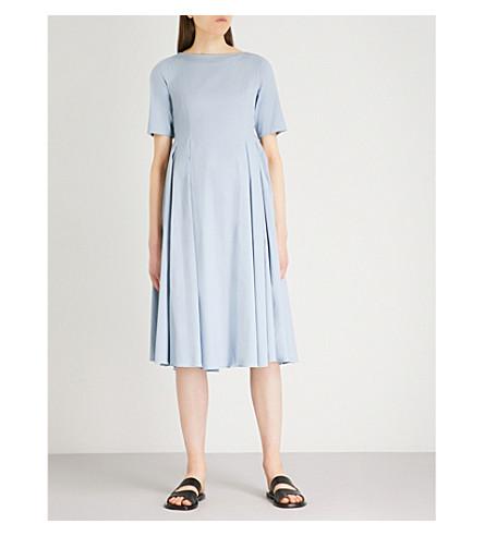 S MAX MARA Eraclea A-line cotton dress (Sky+blue