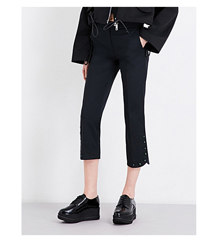 SPORTMAX Eremi high-rise cropped woven trousers (Black