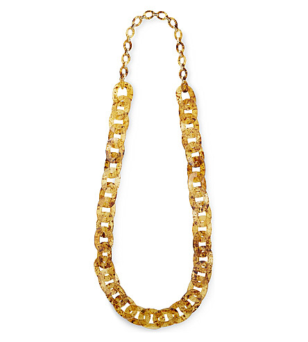 S MAX MARA Ermes speckled chain necklace (Beige