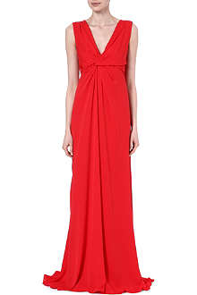 MAX MARA PIANOFORTE Estense silk maxi dress