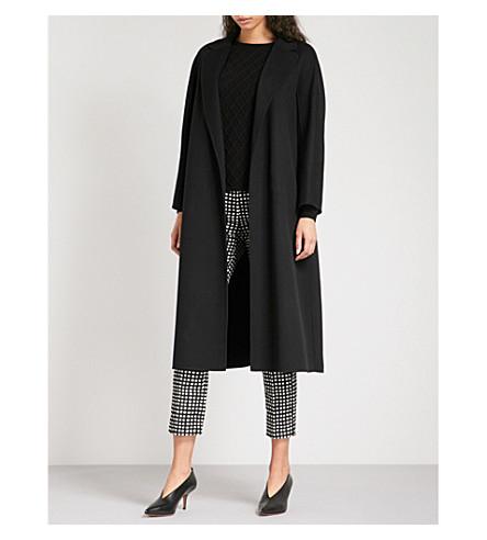 S MAX MARA Esturia brushed wool coat (Black