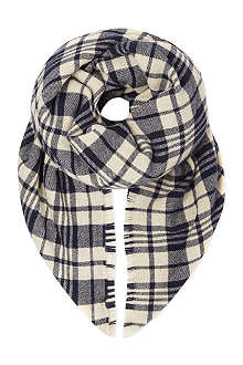 MAX MARA CUBE Checked wool-blend scarf