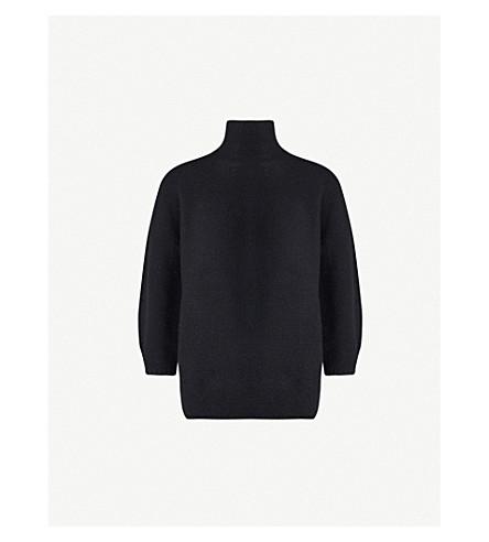 MAX MARA Etrusco 羊毛和羊绒混纺高领毛衣毛衣 (黑色