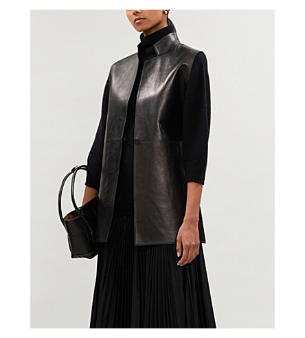 MAX MARAEtrusco 羊毛和羊绒混纺高领毛衣 (黑色
