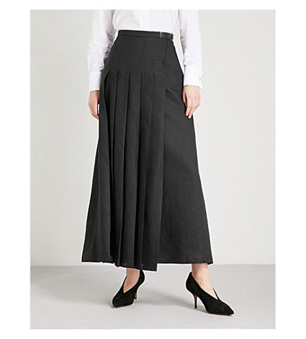 MAX MARA Evelin pleated woven skirt (Black