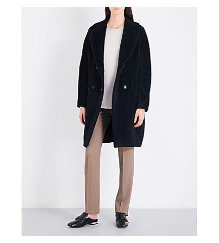 S MAX MARA Fabian double-breasted wool and alpaca coat (Black