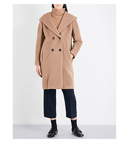 S MAX MARA Faiti double-breasted wool and alpaca-blend coat (Camel