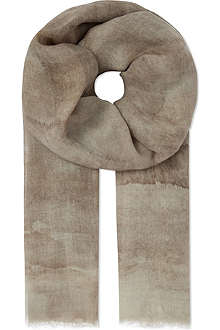MAX MARA Falla wool and silk-blend scarf