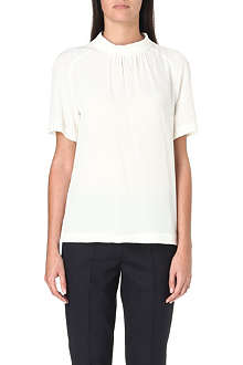 MAX MARA STUDIO Fanell gathered silk top