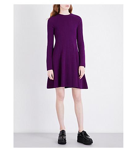 SPORTMAX Fase knitted wool-blend dress (Deep+violet