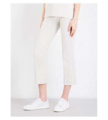 S MAX MARA Fatina stretch-twill trousers (Ecru