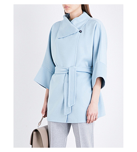 MAX MARA Fattore cashmere coat (Light+blue