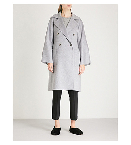 Fausta double-breasted cashmere coat