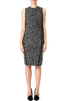 SPORTMAX Sleeveless boucle wool dress