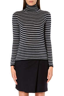 MAX MARA Mod-stripe roll neck jumper