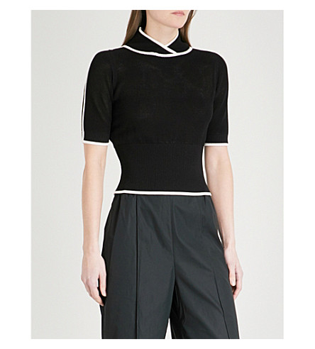 SPORTMAX Fedra mesh T-shirt (Black