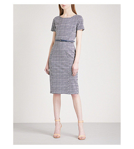 MAX MARA Felino fitted woven dress (Blue