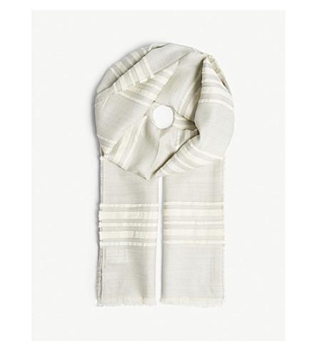 MAX MARA Fetta cashmere scarf (Sky+blue