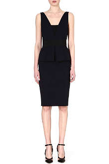 SPORTMAX Fibra peplum dress